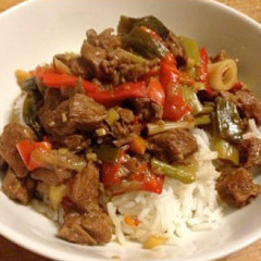 Slow cooked oriental beef