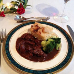 Beef Braised in Mulled Wine